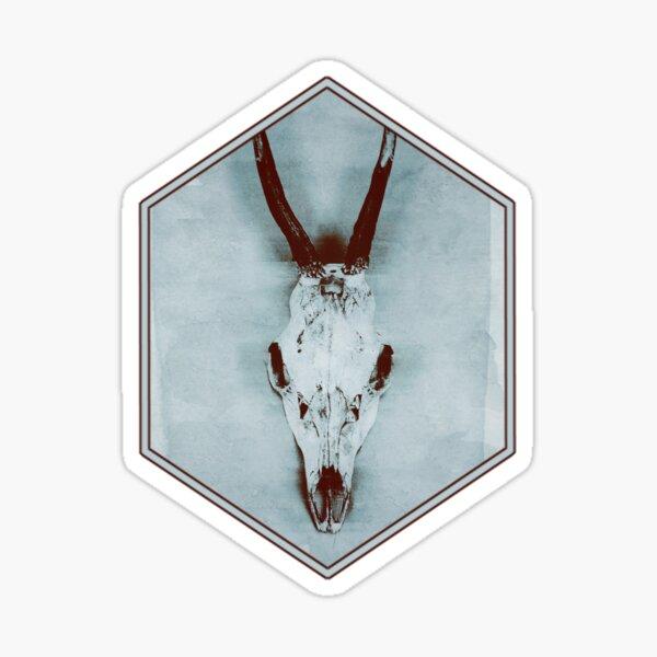 Floating roe deer skull Sticker