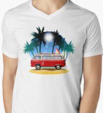 Cartoon Camper Men's V-Neck T-Shirt