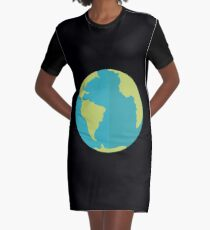 Earth Graphic T-Shirt Dress