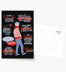 BTS Suga Zitate Postkarten