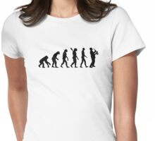 Evolution Saxophone Womens Fitted T-Shirt
