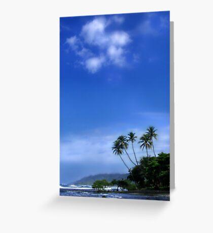 palm paradise Greeting Card