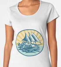 Ship Premium Rundhals-Shirt