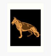 Lámina artística German Shepherd