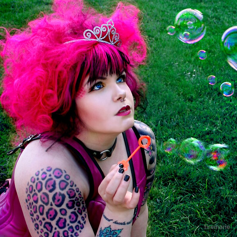 Bubbles Pink by firemarie