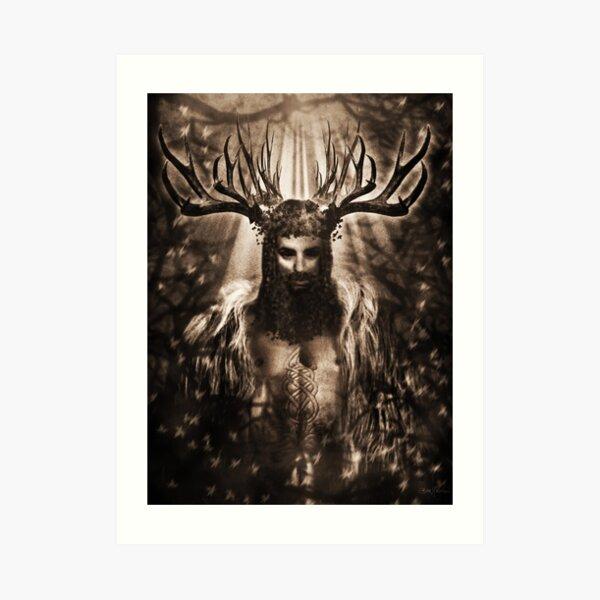 King Stag Art Print