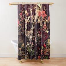 Blütenschädel Duschvorhang