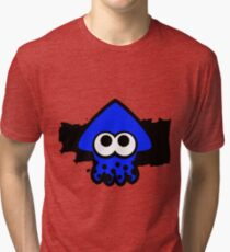 Splatoon Squid (Dark Blue) Tri-blend T-Shirt