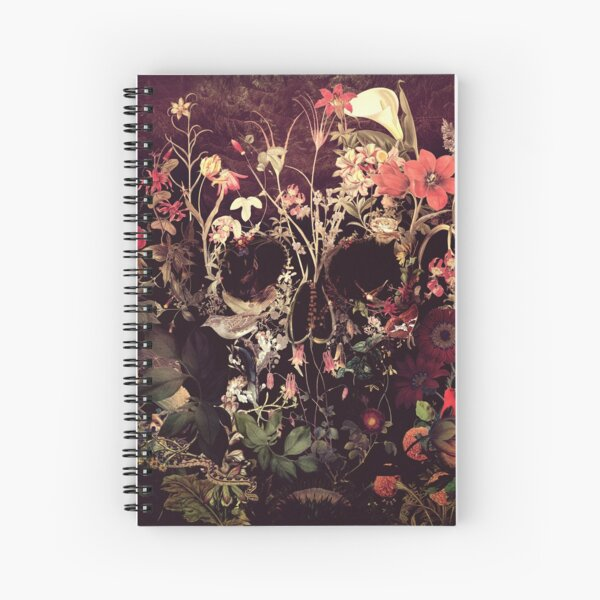 Bloom Skull Spiral Notebook
