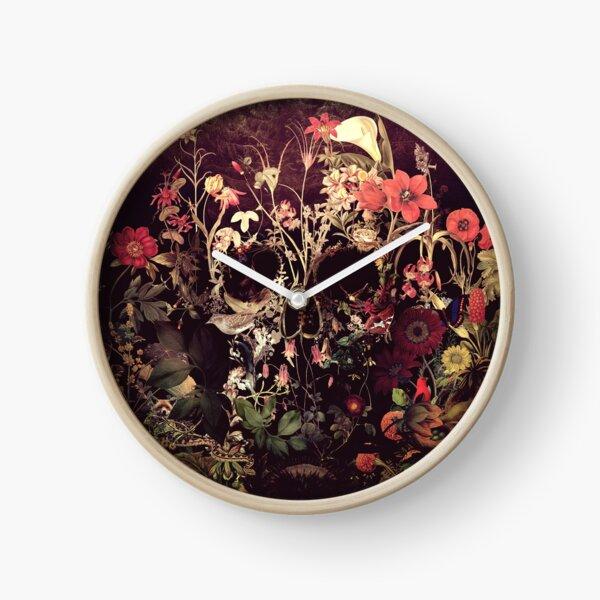Bloom Skull Clock