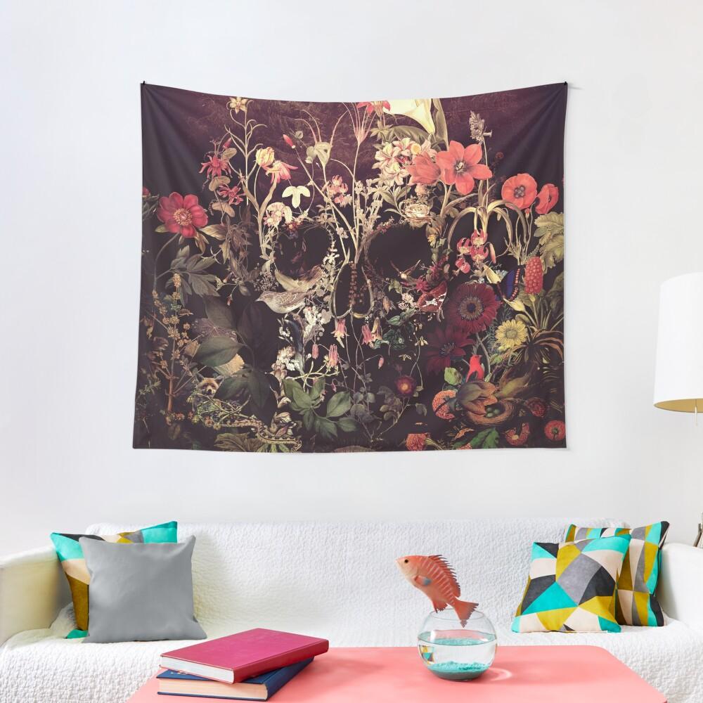 Bloom Skull Tapestry