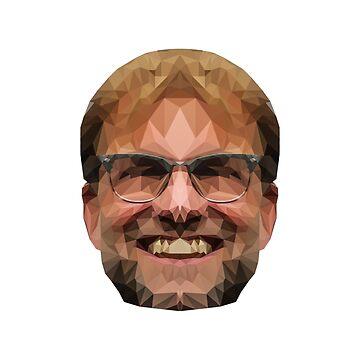 ¡Pegatina e impresión de Jurgen Klopp! ¡Gran regalo para cualquier fan de Liverpool (LFC)! de ConArtistLFC