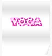 Pink Neon YOGA Poster