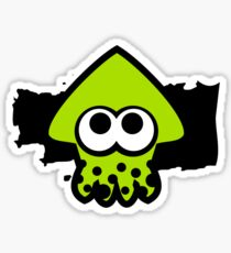 Splatoon Squid (Green) Sticker