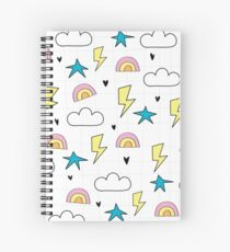 RAINBOWS AND LIGHTNING Spiral Notebook