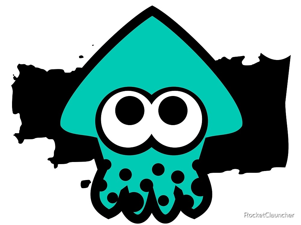Quot Splatoon Squid Light Blue Quot By Rocketclauncher Redbubble