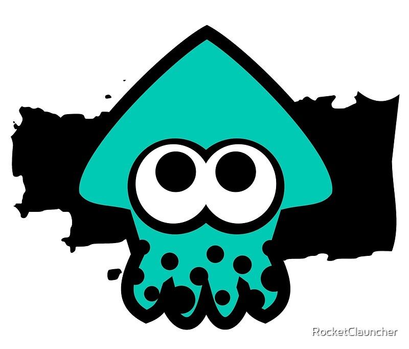 """Splatoon Squid (Light Blue)"" Travel Mugs by ..."