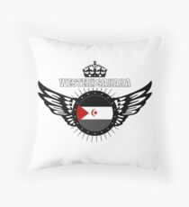 Western Sahara / Africa - Flag - Coat of Arms Design Floor Pillow