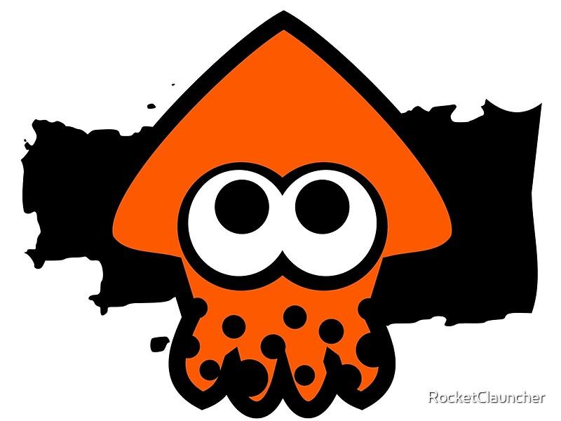 Quot Splatoon Squid Orange Quot Framed Prints By Rocketclauncher