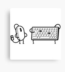 MOUSE AND KEYBOARD Canvas Print