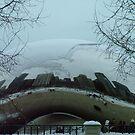 Winter in Chicago Millenium Plaza by Sandra Guzman