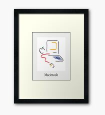 Macintosh Style Poster Framed Print