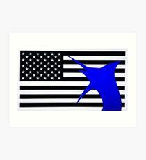 US Blue marlin Art Print