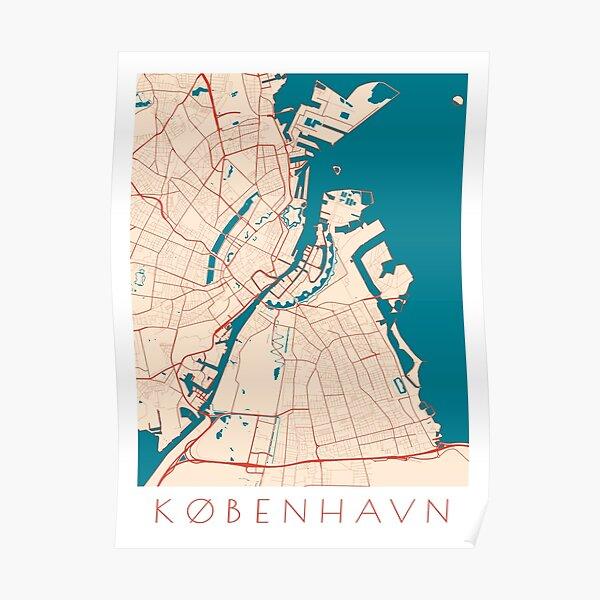 Copenhagen / Kobenhavn City Map Poster