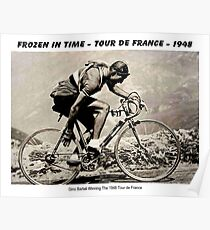 GINO BARTALI : Vintage 1948 Winning Tour De France Advertising Print Poster
