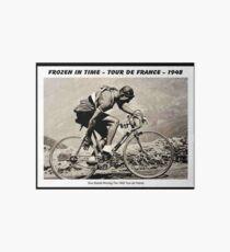Lámina de exposición GINO BARTALI: Vintage 1948 ganador de la impresión publicitaria de Tour De France