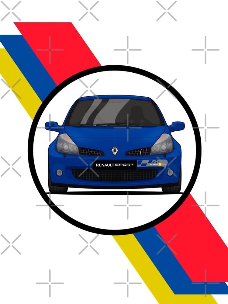 Renault Clio Sport 197 Flag / Front von PixelRandom