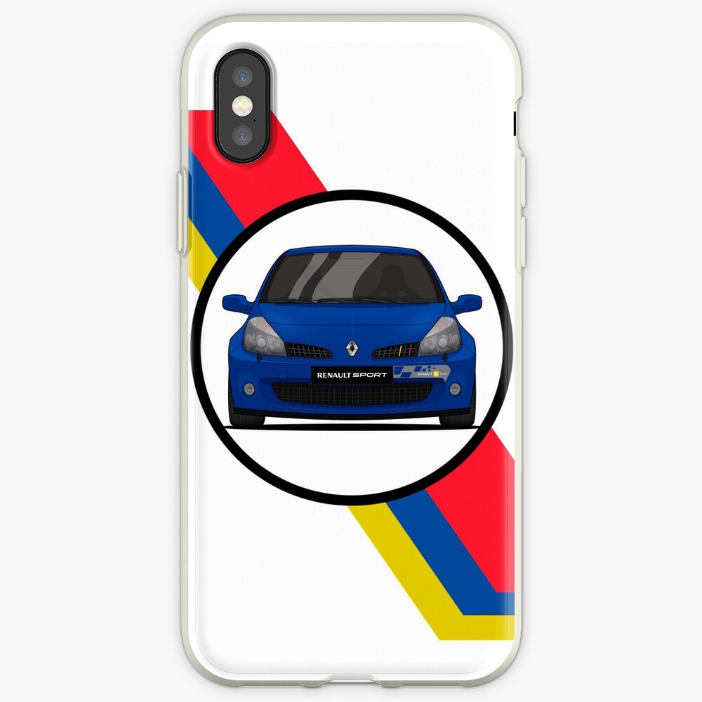 Renault Clio Sport 197 Flag / Front iPhone-Hülle & Cover