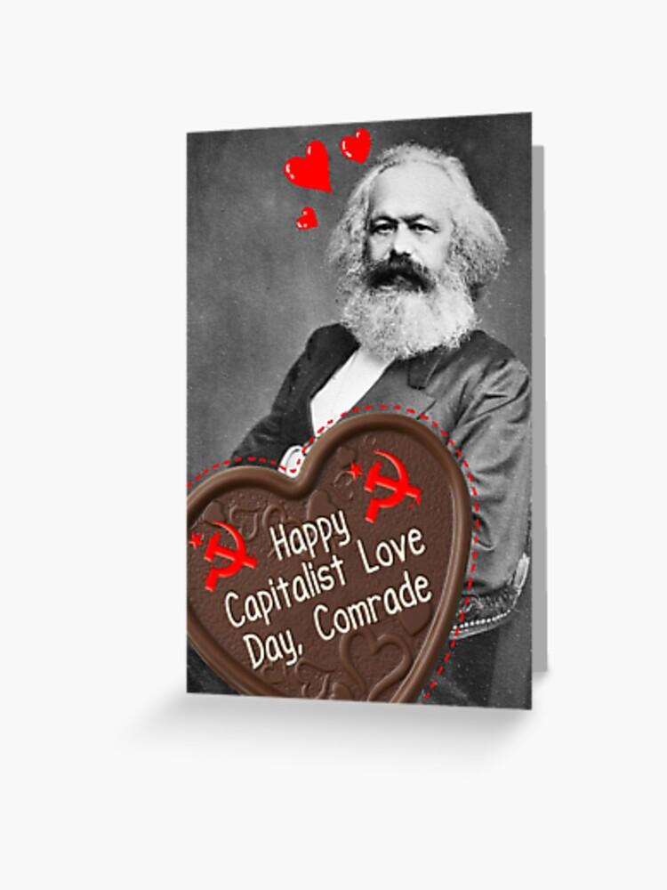 Carte De Vœux Bonne Journee D Amour Capitaliste Camarade