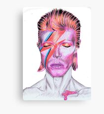 David Bowie Aladdin Sane Tribute Canvas Print