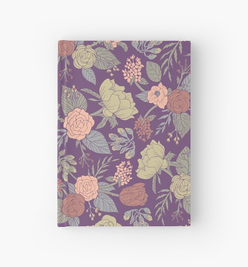"Pastel Purple Pink Green Blue Timber Wood Look: ""Pastel Blue, Pink, Purple & Green Floral/ Botanical"