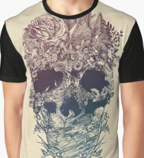 Skull Floral Graphic T-Shirt
