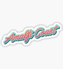 Amalfi Coast Typography Sticker