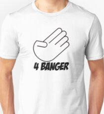 4 Banger Decal (White) Unisex T-Shirt