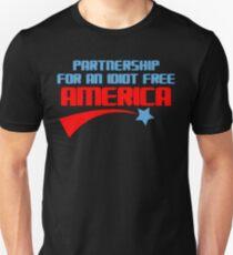 PARTNERSCHAFT FÜR EIN IDIOT FREIER AMERIKA Lustiger Geek-Nerd Unisex T-Shirt