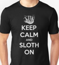 Keep Calm And  Sloth On Unisex T-Shirt