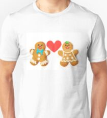Gingerbread cookies on white Unisex T-Shirt