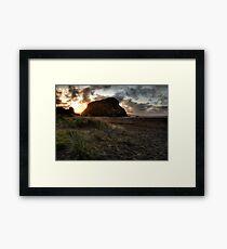 Beach Scene Framed Print