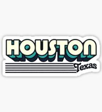 Houston, Texas | Retro Stripes Sticker