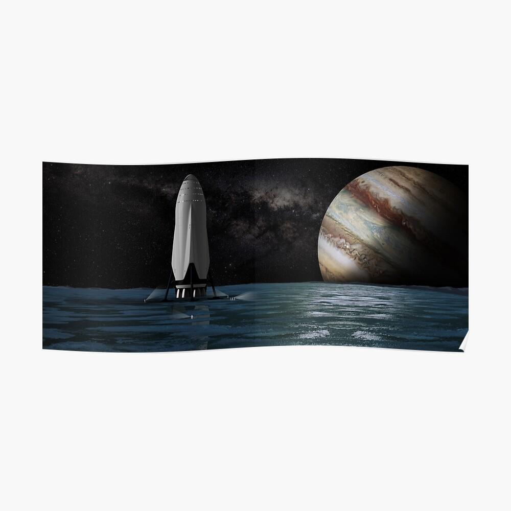SpaceX Interplanetarisches Transportsystem auf Europa Poster