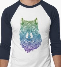 Abstract Wolf Men's Baseball ¾ T-Shirt