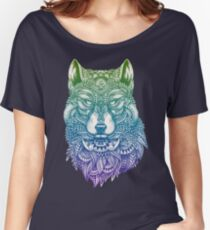 Abstract Wolf Women's Relaxed Fit T-Shirt