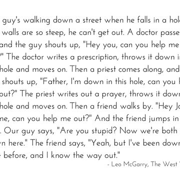 Leo McGarry's Man Falls in a Hole Speech - The West Wing by littlemamajama