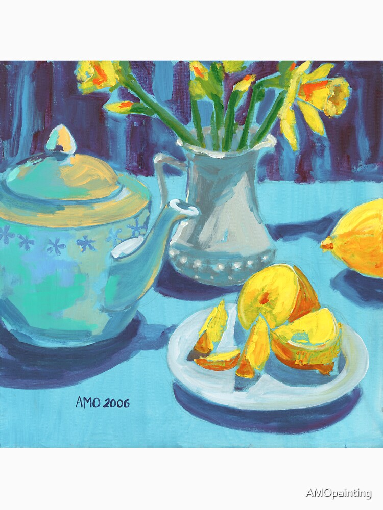 Tea Pot - Blue by AMOpainting