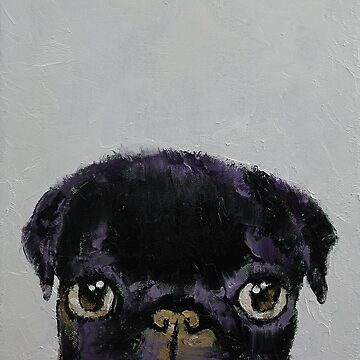 Black Pug by michaelcreese