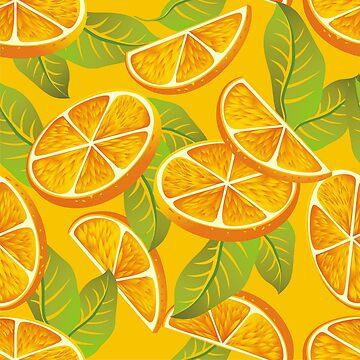 Orange background by maystra